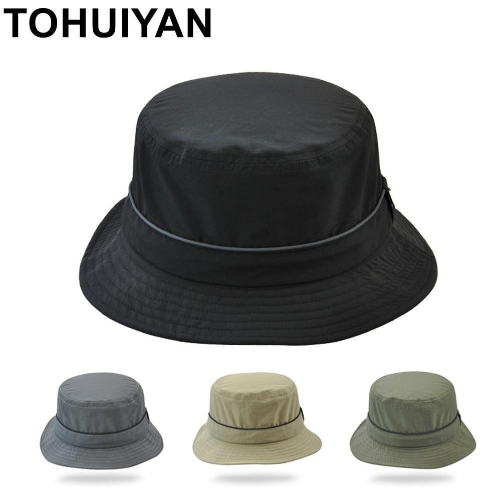 TOHUIYAN Nylon Impermeável Dobrável Balde Chapéu Das Mulheres Dos Homens de  Secagem rápida Tampas Sombrero Verão 17238d55198