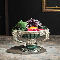 elephant pure hand painted decorative fruit fruit plate restaurant fruit bowl luxury retro Home Furnishing compote