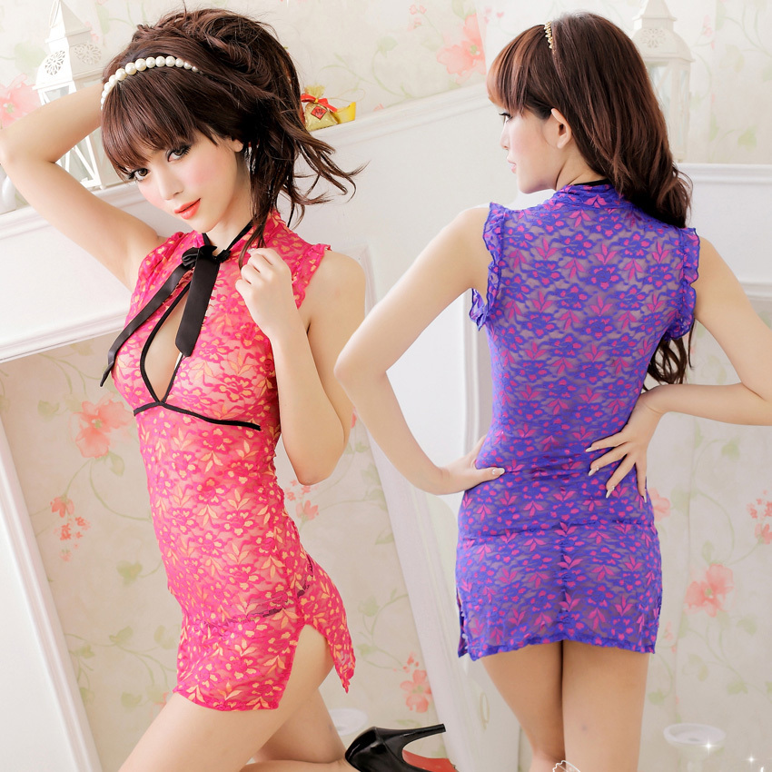 2017 Retro <font><b>Chinese</b></font> cheongsam New Sexy lingerie hot erotic women costumes <font><b>Sex</b></font> toys Sexy underwear Role playing Sleepwear <font><b>Dress</b></font> image
