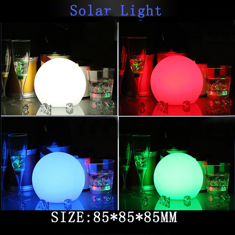 Solar Power Led Ball Lamp Color Changing/Steady Rgb Light Rechargeable Pool Garden Decor Light Ja55