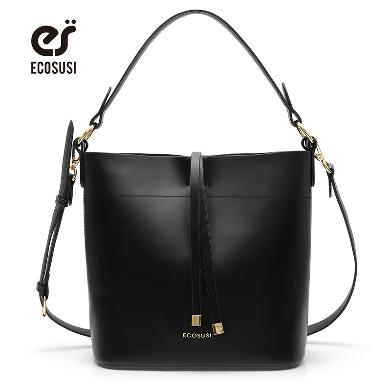 ECOSUSI New Women PU Leather Handbag Fashion Women Messenger Bags Solid Ladies Lether Shoulder Bag Casual Tote Crossbody Bags ecosusi new fashion women messenger bags casual women leather handbags vintage women shoulder cross body bags bolsos bag
