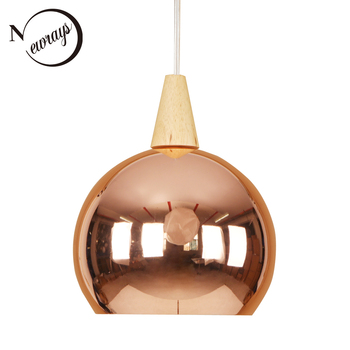 Europe modern iron wood pendant light LED E27 Nordic loft hanging lamp with 2 colors for shop lounge dining room bedroom hotel