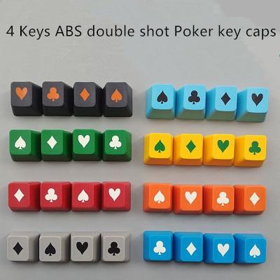4 Keys/set Taiwan Taihao Abs Double Shot Poker Key Caps Mechanical Keyboard Keys Oem R4 Height Sale Overall Discount 50-70%