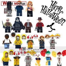 Single The Ring Horror Freddy Jason Zombie Building Blocks Halloween Gifts Movie figurines Christmas Toys For Children(China)