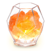 Inlife M 105 Crystal Salt Lamp Dimmable LED Light With Air Purifying Function Beautiful Light For Bedroom Office Z30