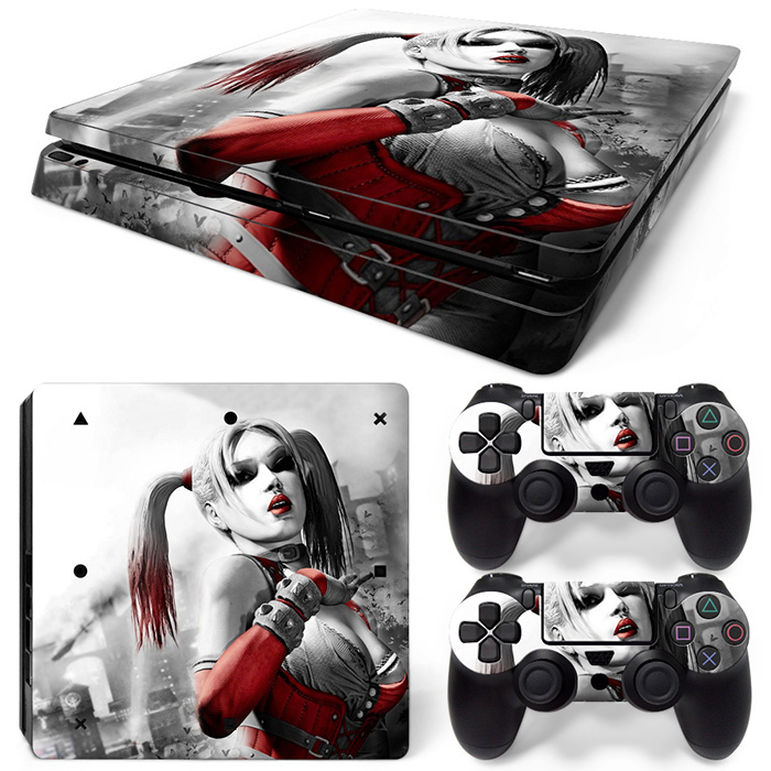free drop shipping Low price good quality game decals for PS4 slim console and 2 controller skin sticker #TN-P4Slim-0976
