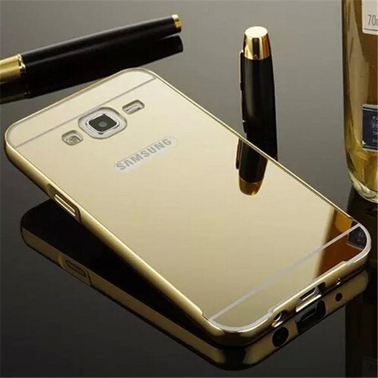 quality design 745d7 9e8c7 US $3.12 |Mirror Aluminum Case For Samsung Galaxy J5 J500 J500F Luxury  Metal Frame Ultra Slim Acrylic Phone Back Cover For Samsung J5 on ...