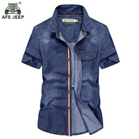 European And American Style 2017 Spring New Men S High Quality Cotton Jeep Short Sleeved Lapel