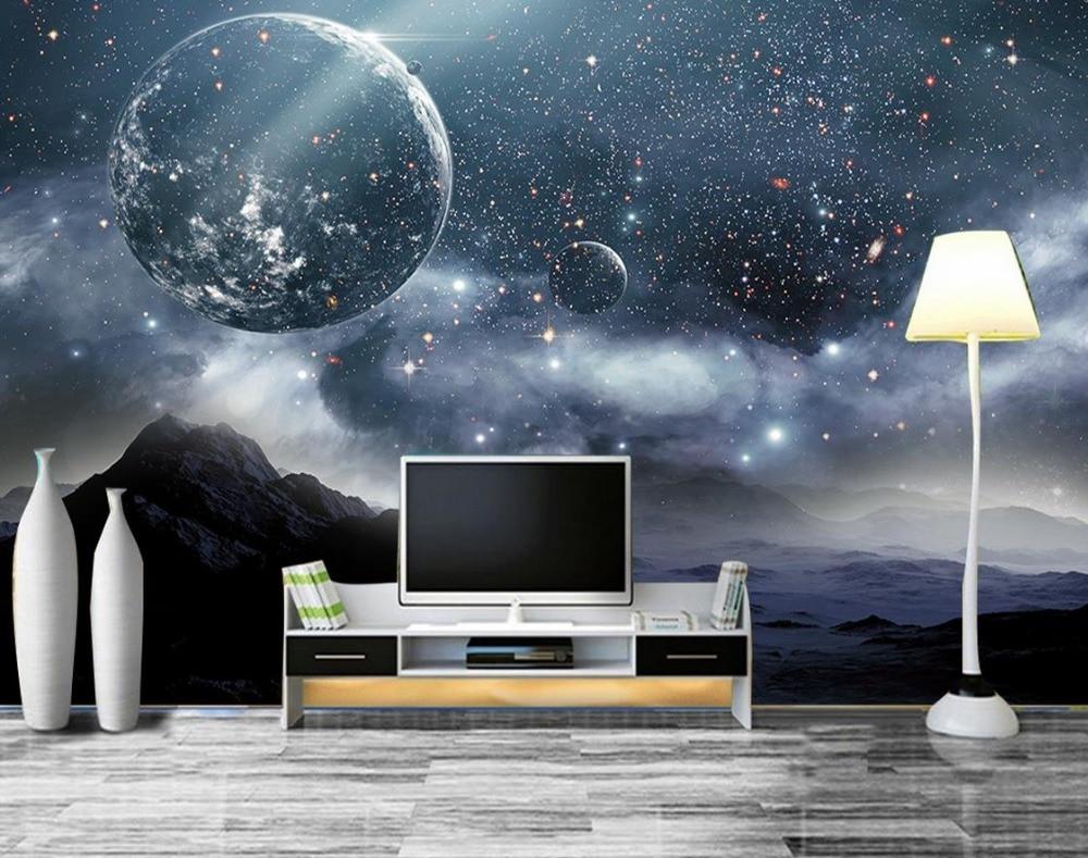 online get cheap technology wallpaper aliexpress com alibaba group 3d wall murals bedroom wallpaper custom earth star technology background wall 3d stereoscopic wallpaper china