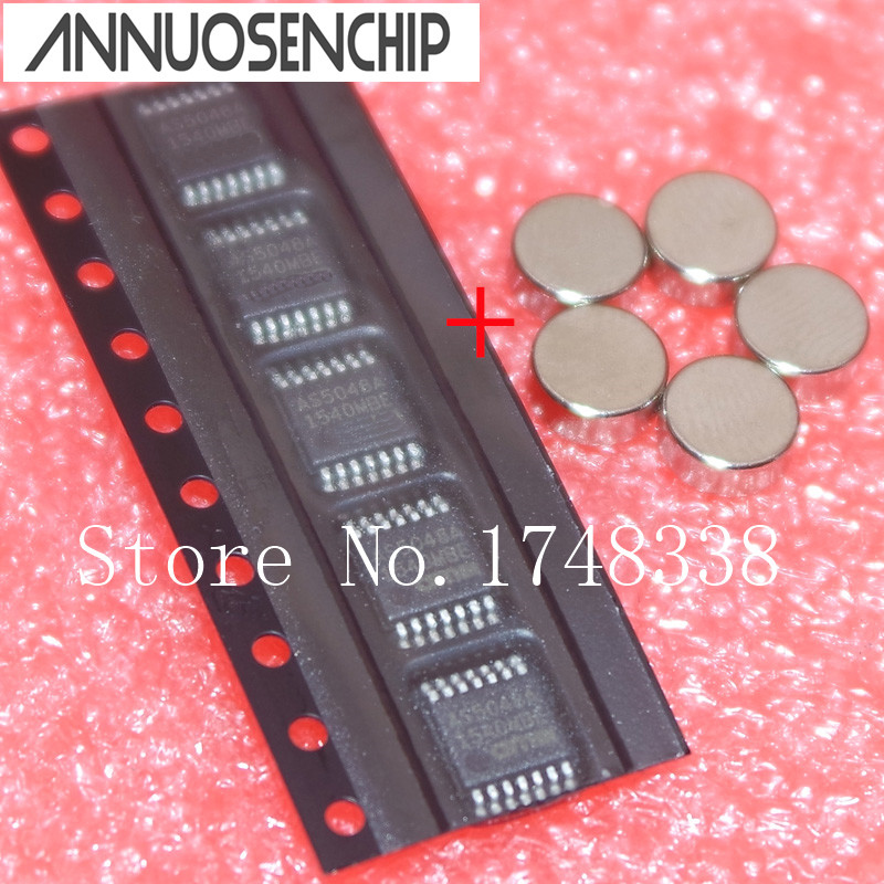 5PCS AS5048A-HTSP AS5048A AS5048 TSSOP14 With magnet Original authentic and new in stock Free Shipping AS5048A-HTSP-500 new japanese original authentic vfr3140 5ezc