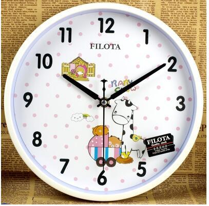 2016 new Children cartoon style wall clock living room