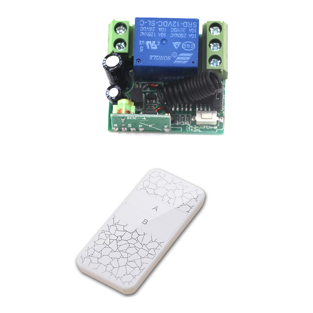Newest Wireless Universal Remote Control Mini DC 12V Button RF Switch System 315/433MHz Transmitter and Receiver wireless pager system 433 92mhz wireless restaurant table buzzer with monitor and watch receiver 3 display 42 call button