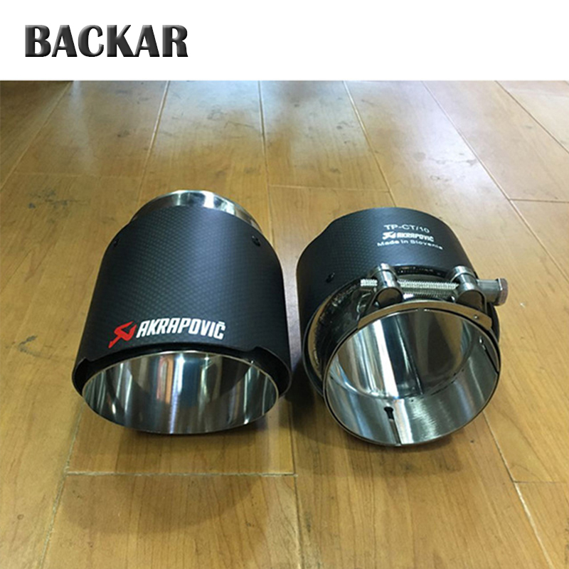 Backar For BMW X5 E53 E70 X6 E71 X1 F48 M performance Accessories 15 2016 2017 Rear Tail Carbon Akrapovic Tips Car Exhaust Pipes exhaust tips on jaguar xe