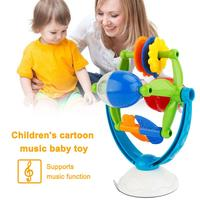 Baby Toys Infant Music Sucker Toy Brinquedos Turn Over Roll Game Early Educational Toys For Children