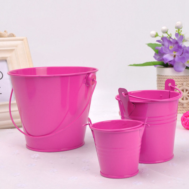 Hot Metal Iron Flower Pot Balcony Garden Plant Planter Nursery Pots Home Decoration 3 Sizes