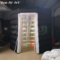 In store cheap price octagon shape inflatable photo booth,wedding party booth with attachable curtain