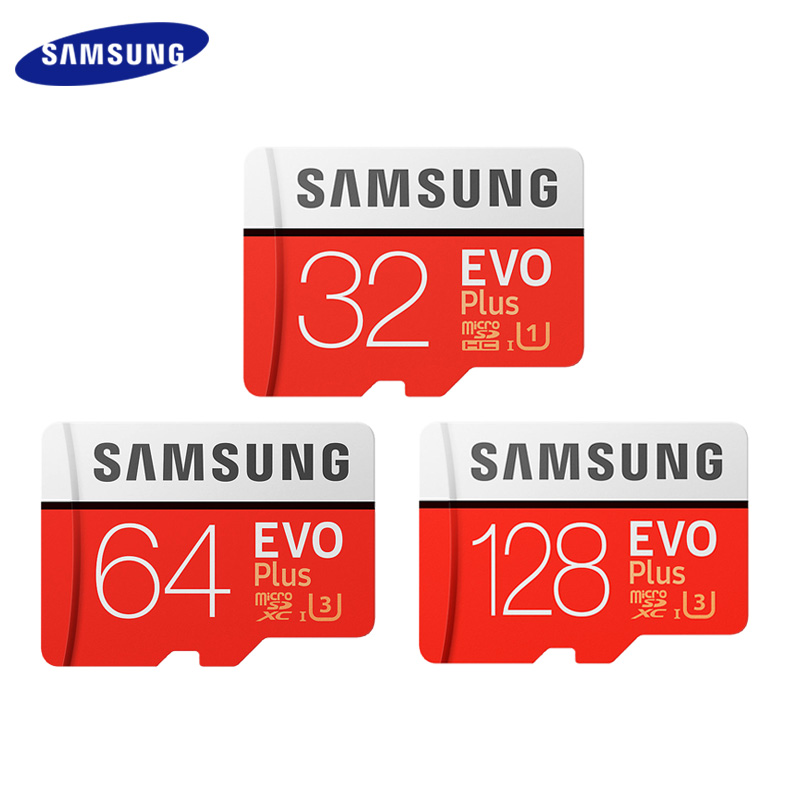 Original SAMSUNG Grade EVO+ Class 10 Memory Card 32GB 64GB 128GB Micro SD Card 256GB SDHC SDXC C10 UHS TF Card Trans Flash