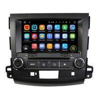 KLYDE 8 2 Din Android 8,1 автомобильный радиоприемник для MITSUBISHI Outlander 2006 2012 четырехъядерный Автомобильный Аудио мультимедийный плеер стерео ram 2 Гб