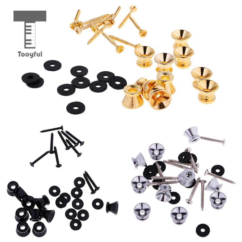 Tooyful 30Pcs / Set Eectric Guitar Bass Strap Lock End Pins Straplock Ukulele Button все цены