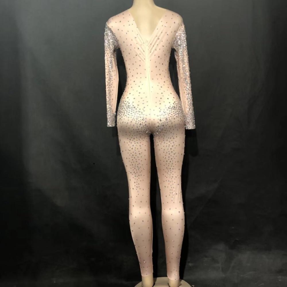 Strass Femmes Impression Partie Usage Costume De Sexy D'étape Salopette 2019 3d Body Performance Mousseux Discothèque Poitrine Nouveau wRxTdqdXC