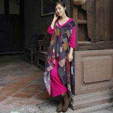 2016 New Fashion Womens National Wind Chinese Cheongsam Cotton Shawl Loose Button Patch Printed Coats Casual