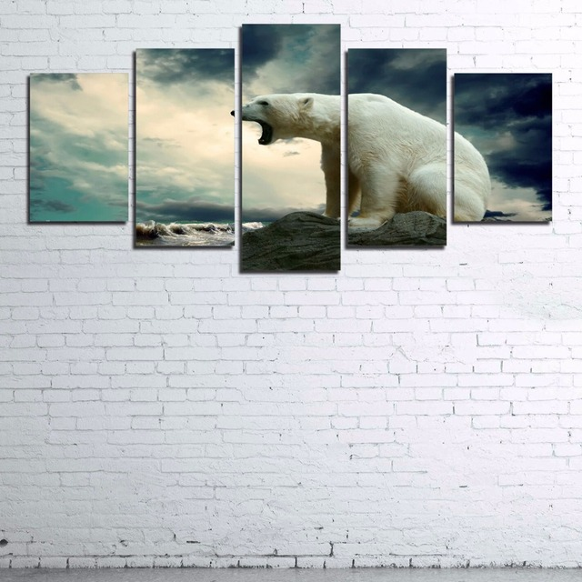 Modern Poster Home Decor Frame Wall Art Animal Pictures Living Room ...