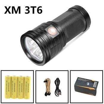 סופר בהיר פנס LED USB נטענת ישיר טעינה טקטי פנס ציד זרקור 3 מצבי כוח בנק