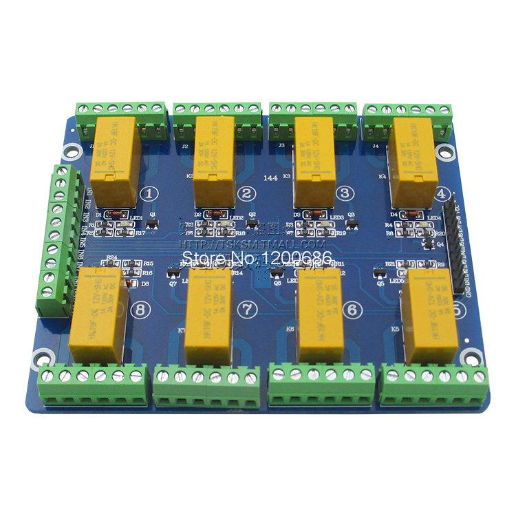 8 link signal relay module 5V12V24V low level trigger 1A current signal control cm300dy 12 module