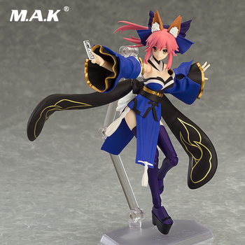 14.5cm Cute Fox Tamamo no Mae Anime Figure Figma 304# Fate/EXTRA Caster PVC Action Figure Collectible Model Toy for Holiday Gift
