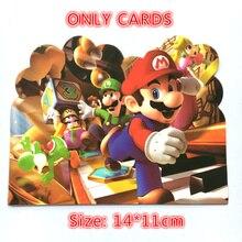 10pcs Super Mario theme Paper Invitation Cards for kids Birthday Party Decoration mario de biasi invitation to milan