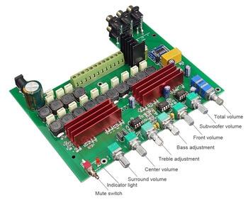 WL60 TPA3116D2 بلوتوث 4.2 مكبر للصوت مجلس 5.1 قنوات الصوت مكبرات 100WX1 + 50WX5 مع التريبل باس تعديل