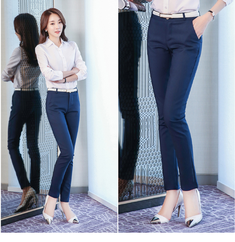 Women Pencil Pants 2019 Autumn High Waist Ladies Office Trousers Casual Female Slim Bodycon Pants Elastic Pantalones Mujer 23