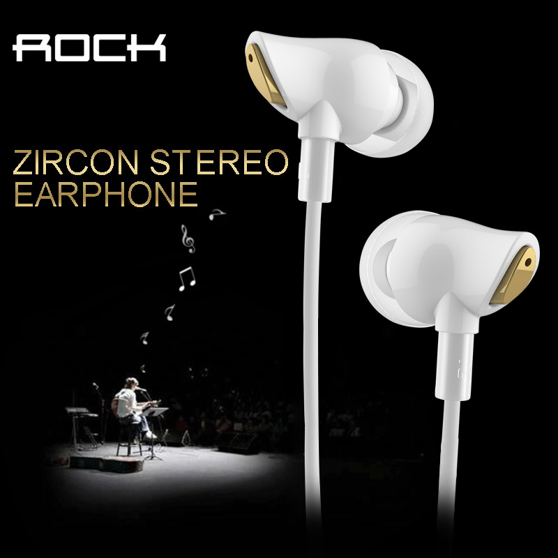 Original Rock Zircon Stereo Earphone In Ear Amazing Noise Isolation In Balanced Immersive Bass Perfect Fone De Ouvido sem fi