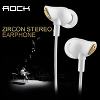 New Rock Zircon Stereo Earphone With Mic Nano Material 3 5mm Audio Input HD Tone For