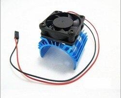 Radiator z wentylatorem 540 550 3650 bezszczotkowy radiator silnika wentylator chłodzący do 1/10 1/8 RC Car HSP Wltoys Toy Motors w Silnik od Elektronika użytkowa na