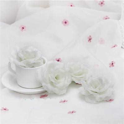 8cm Wit Ivoor Crème Kunstmatige Rose Bloem Hoofd voor Bruiloft Decoratie Valentijnsdag Gift DIY Rose Beer Nep bloemen Flores