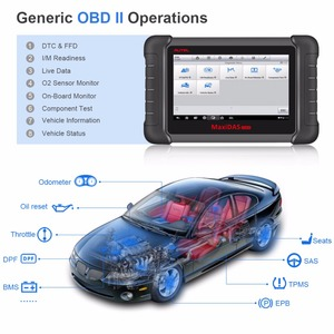 Image 5 - Autel Maxidas DS808K OBD2 Scanner Car Diagnostic Tool Functions Of EPB/DPF/SAS/TMPS Better Than Launch X431 Scanner Automotivo