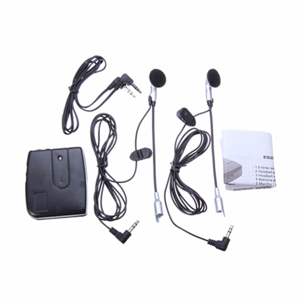 Portable Microphone Headset Motorcycle Intercom Driver Rider Interphone Walkie Talkie helmet Microphones Convenient 2017