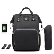 Lequeen New USB Diaper Bags Big Nappy Update Fashion Large Mummy Travel Backpack Waterproof Handbags