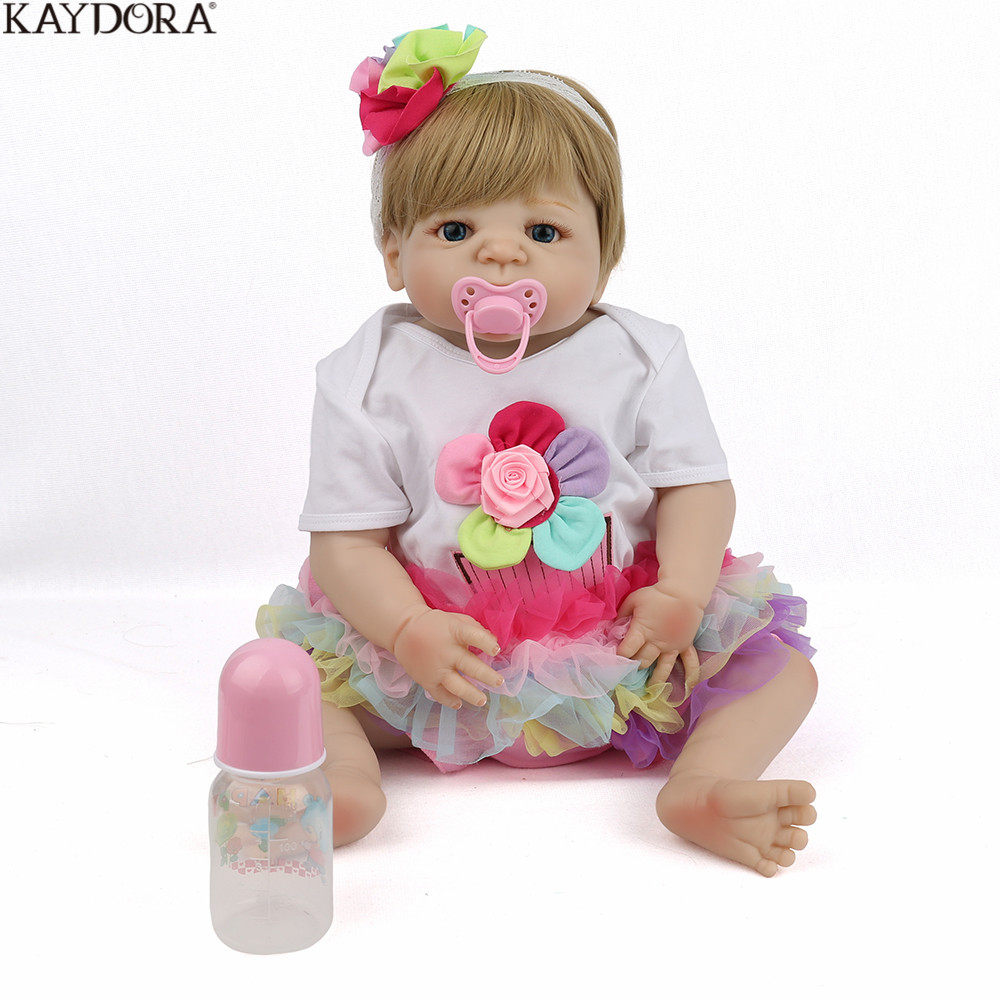 KAYDORA 22 inch 55cm Full Body Silicone Reborn Baby Dolls Alive Lifelike Real Dolls Adorable Realistic
