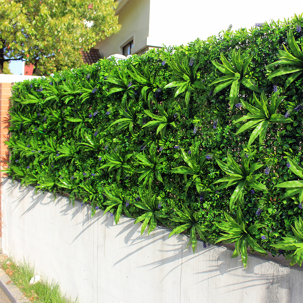Outdoor Artificial Plant Walls Leaves Fence 1x1m UV Proof