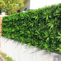 Outdoor Künstliche Anlage Wände Blätter Zaun 1x1 m UV Proof DIY Vertikale Garten Wand IVY Panels Garten Hinterhöfe dekorationen