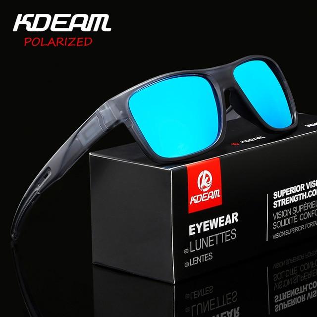 KDEAM Quadrados Óculos De Sol Esportivos Polarizada lente Anti-Reflexo do  Espelho Homens Óculos de Sol ao ar livre proteção Com Caso UV400 R8786 2b5eee377c