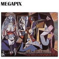 MEGAPIX מודרני קישוט קיר אמנות ציורים קלאסיים נשים של אלג 'יר פבלו פיקאסו
