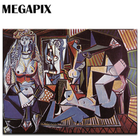 MEGAPIX Modern Art Wall Decoration Pablo Picasso Women Of Algiers Classical Paintings