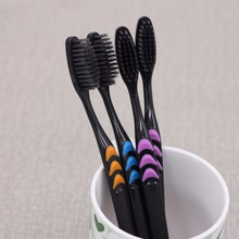 10Pcs Free Shipping Bamboo Charcoal Toothbrush  free shipping 10pcs ad8402a