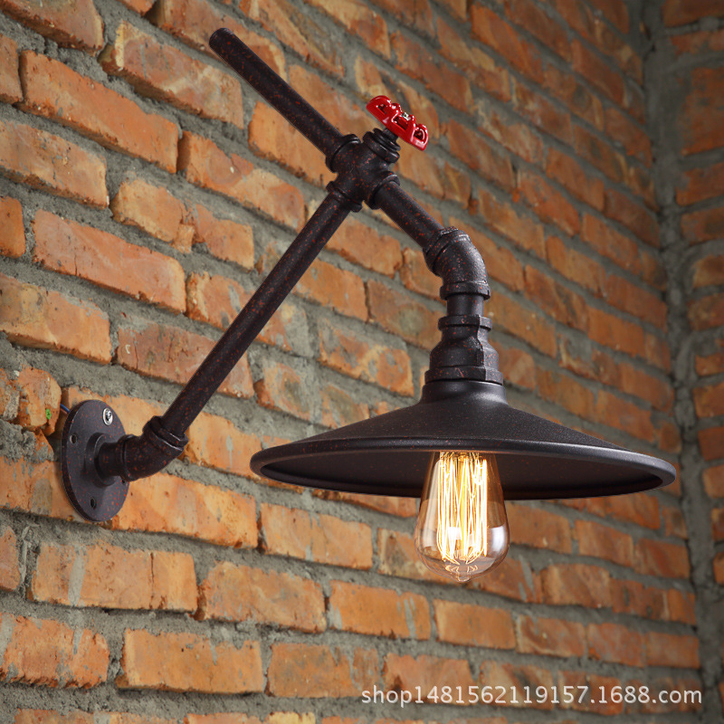 vintage loft iron pipes wall lamps dining room living room bedroom study coffee shop decorative pan wall lampvintage loft iron pipes wall lamps dining room living room bedroom study coffee shop decorative pan wall lamp