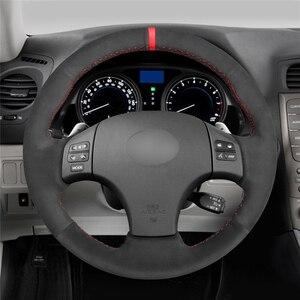 Image 2 - Mewant Đen Da Lộn Tay May Xe Bọc Vô Lăng Cho Xe Lexus Là IS250 IS250C IS300 IS300C IS350 IS350C F Thể Thao 2005