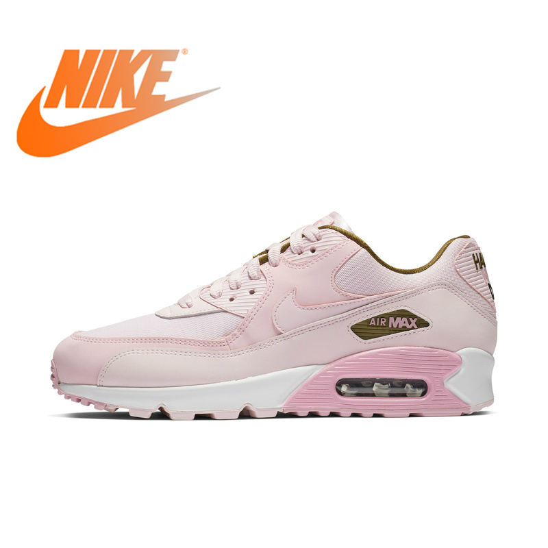 Original Authentic Nike Brand AIR MAX 90 SE Women's Sneakers Running Shoes Lace Up Breathable Max Air Massage Leisure Low 881105