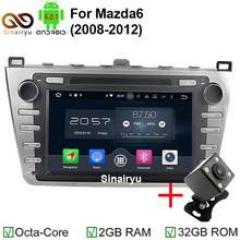 SinairyuAndroid 6.0 Car DVD GPS Fit for Mazda 6 Ruiyi Ultra 2008 2009 2010 2011 2012 Autoradio Multimedia Audio Stereo Head Unit